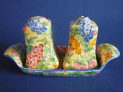Rare Grimwades Royal Winton 'Somerset' Chintz Cruet c1936